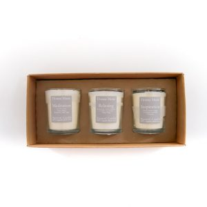 natural candle pack of 3